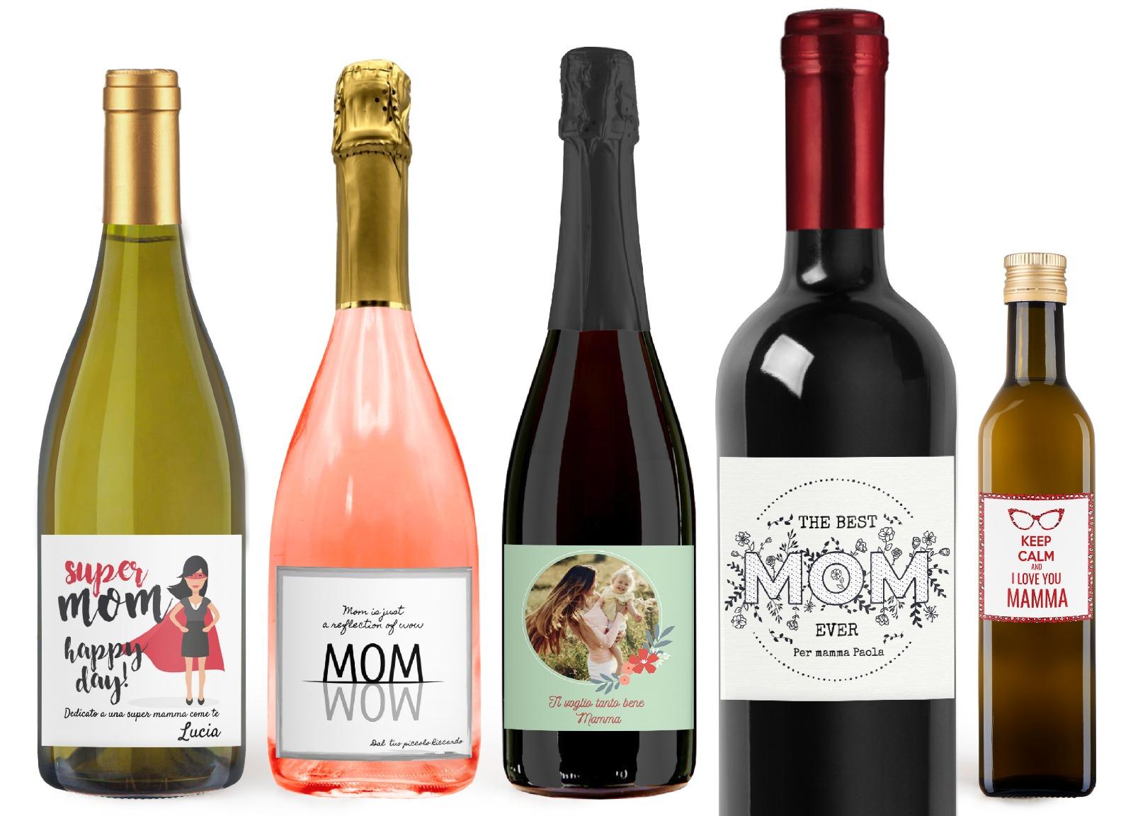 bottiglie personalizzate festa della mamma