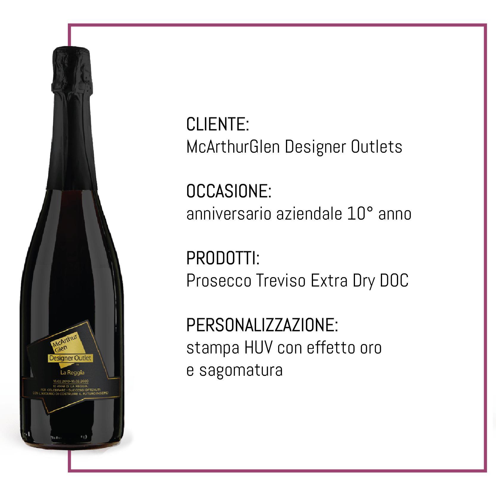 bottiglia personalizzata anniversario McArthurGlen Designer Outlets