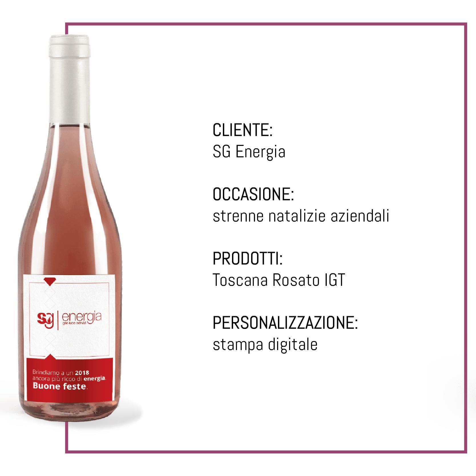 bottiglia personalizzata strenne natalizie sg energia