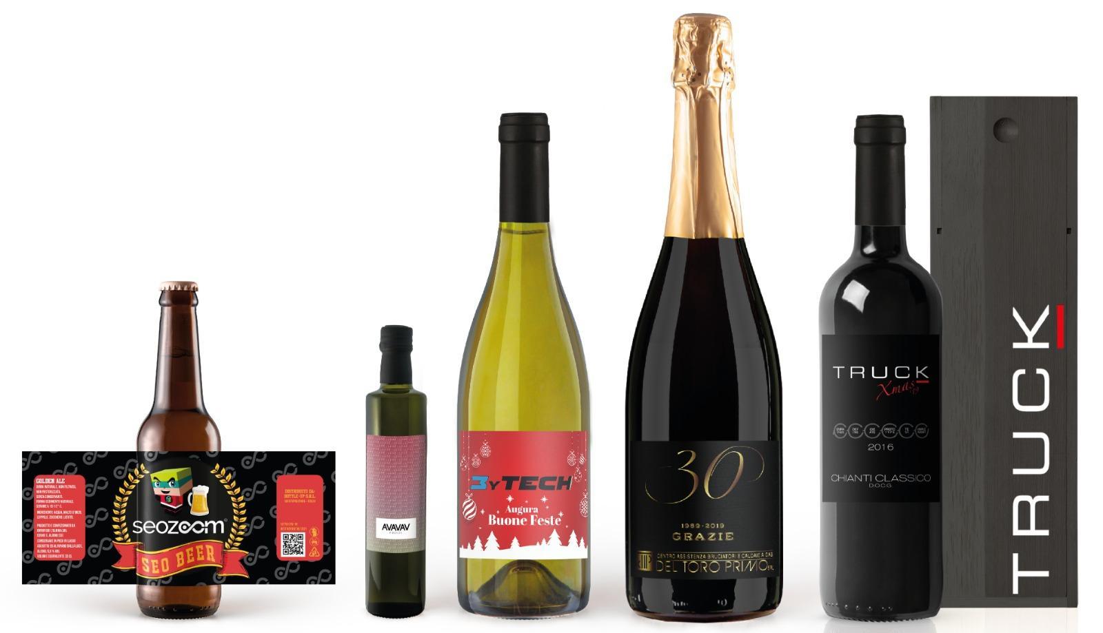 bottiglie personalizzate aziende vino birra olio