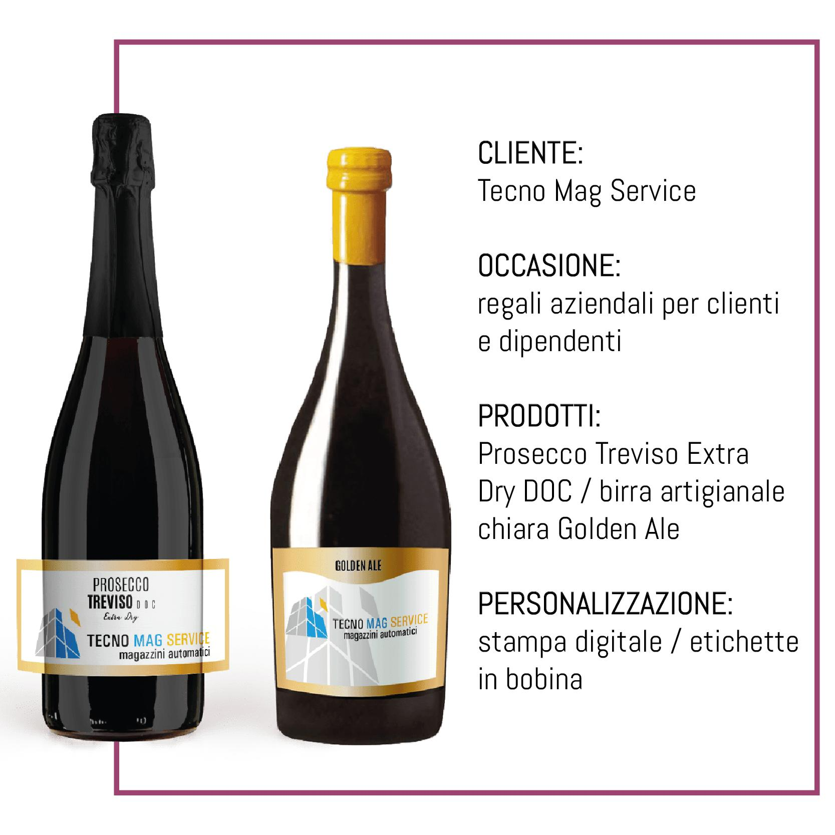 bottiglie personalizzate regali clienti dipendenti Tecno Mag Service
