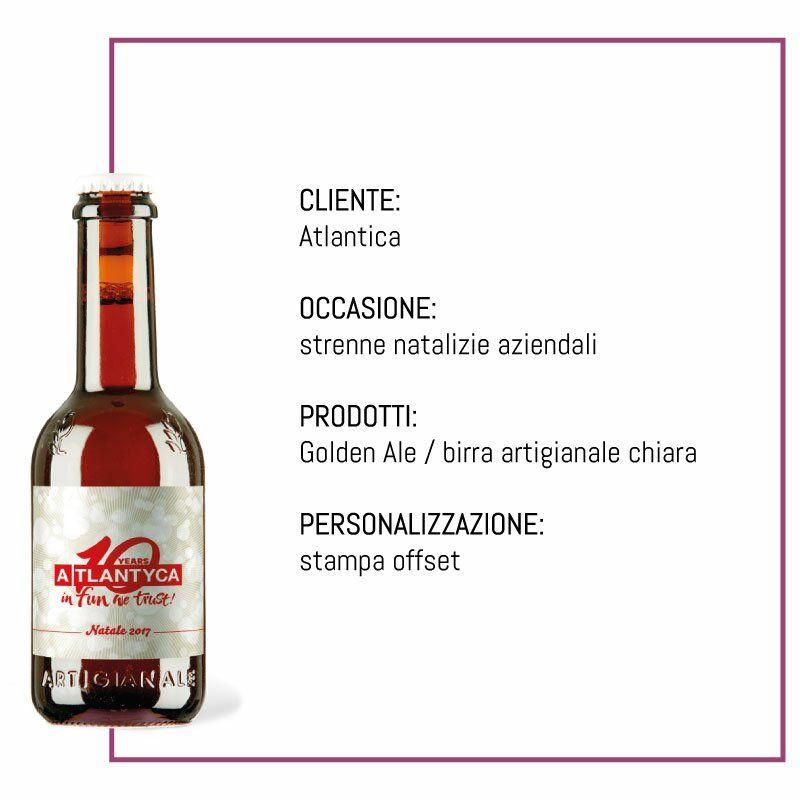 atlantica birra etichetta personalizzata strenna natalizia aziendale