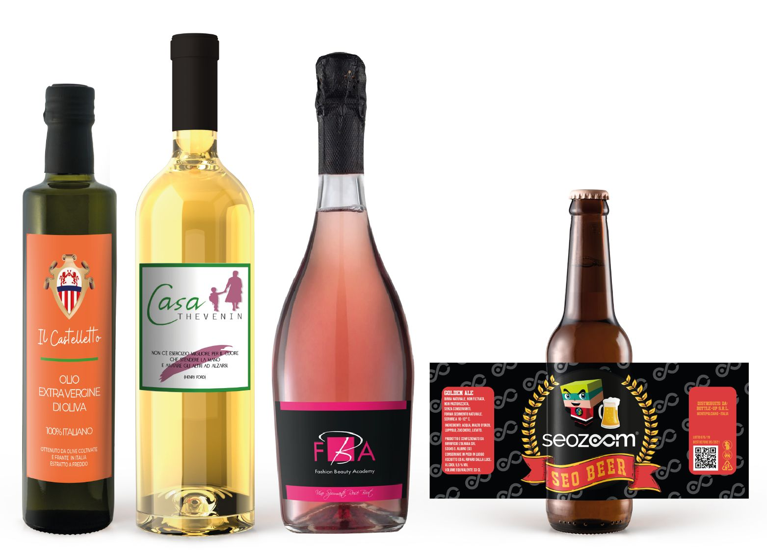 bottiglie personalizzate idee regalo strenne natalizie aziendali