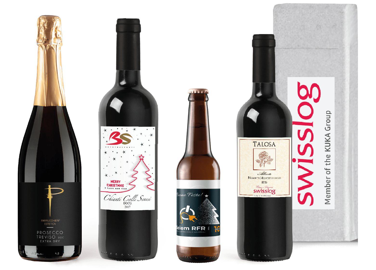 bottiglie personalizzate strenne natalizie aziendali