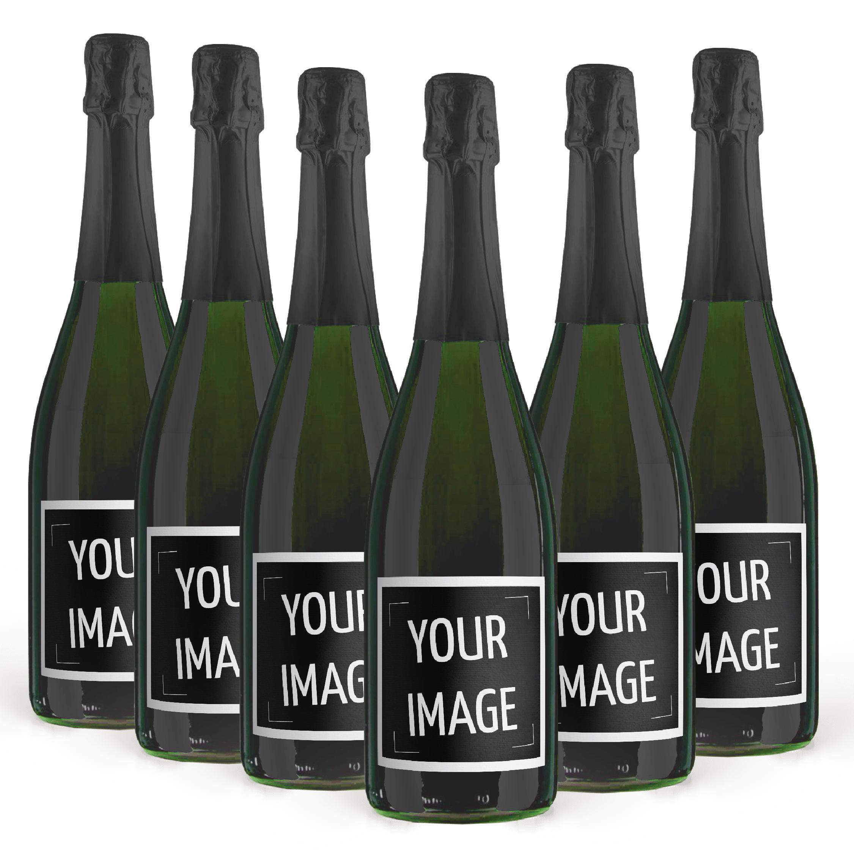 6 champagne brut personalizzato