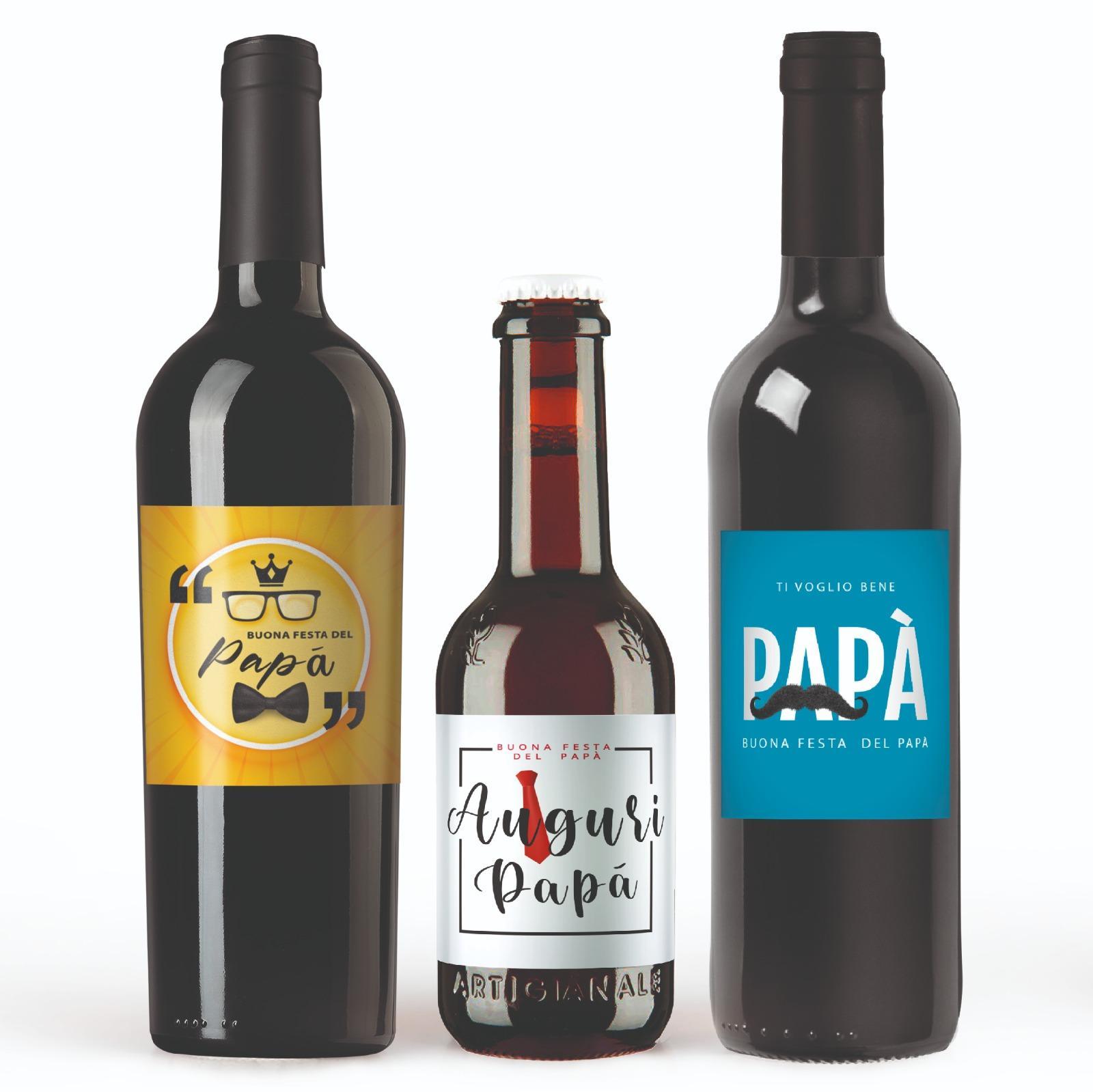 bottiglie personalizzate regalo festa papà
