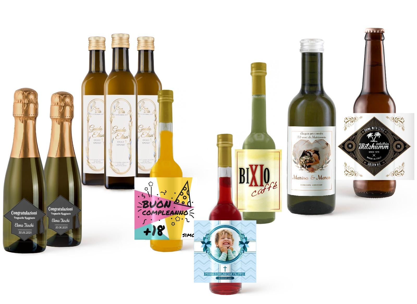 bottiglie mignon personalizzate