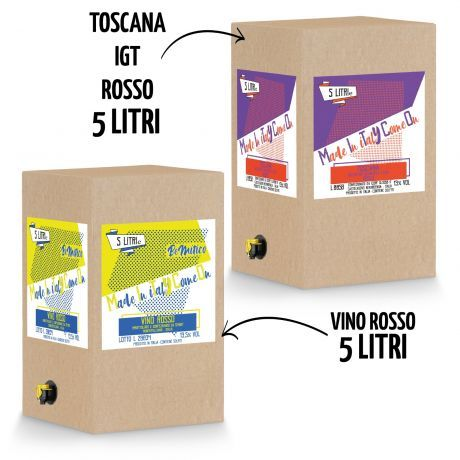BeMityco - Limited Edition - 2 Bag in Box - Vino Rosso + Toscana Rosso IGT