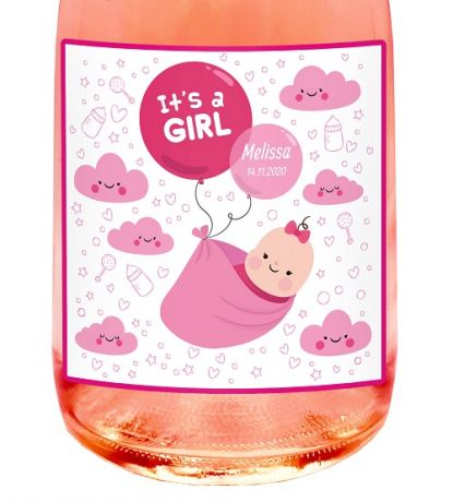 NON-ALCOHOLIC SPARKLING WINE gift idea for baptism or baby shower