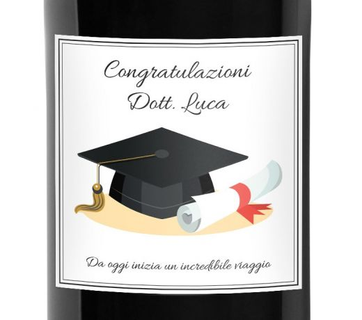 Gift idea for graduate or graduate - personalized beer