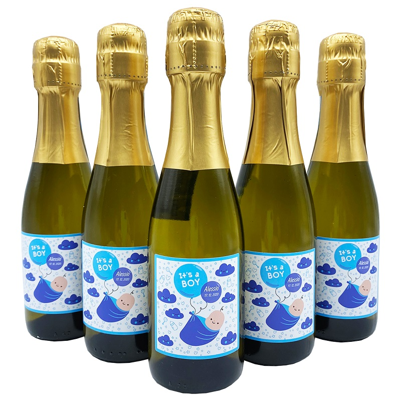 36X Bottiglie Prosecco piccole personalizzate