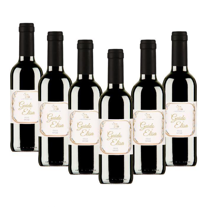 90 Bottiglie vino personalizzato bomboniere matrimonio