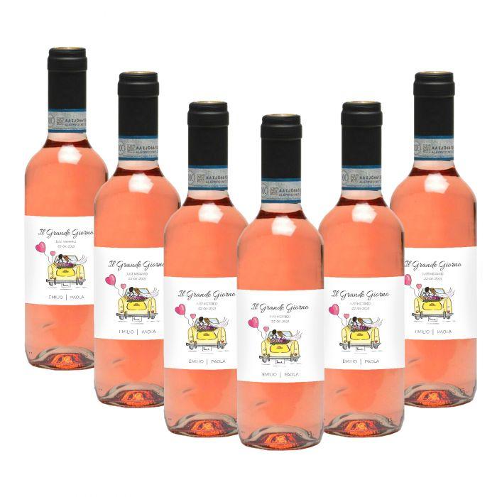 150 Bottles Personalized Wine Wedding Favors