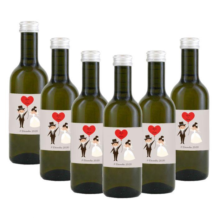 90 Bottiglie vino Chardonnay personalizzato per matrimonio