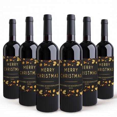 6 Vino Nobile di Montepulciano DOCG - 20% - Custom Bottles for CHRISTMAS