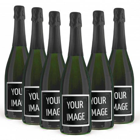 6X CHAMPAGNE BRUT 0.75 lt. - Bottle With Custom Label