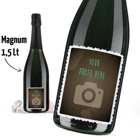 CHAMPAGNE BRUT 1.5 lt. - Bottle MAGNUM with custom label