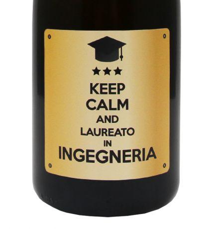 Prosecco personalizzato - Idea regalo per Laurea - etichetta con dedica