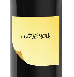 Message In a Bottle - Gift Idea personalized bottle of Primitivo IGT 0.75