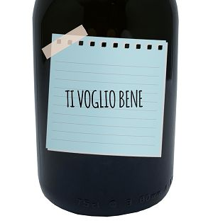 Message In a Bottle - Gift Idea personalized bottle of Prosecco Extra Dry DOC 0.75