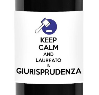 Keep Calm and ... Graduated! - Personalized bottle gift idea for Graduation - Label with dedication and personalized greetings