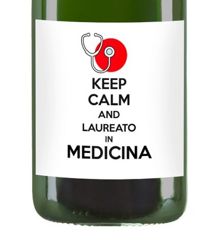 Keep Calm and ... Graduated! - Personalized Magnum bottle, gift idea for Graduation - Franciacorta with personalized label and dedication