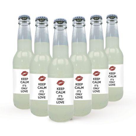 6X Bottiglie piccole personalizzate - Limonata - Bevanda analcolica artigianale