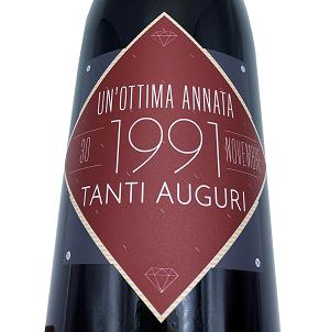 MAGNUM Vino Nobile di Montepulciano DOCG personalized for birthday