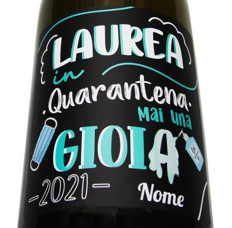 Quarantine Graduation Never a Joy - Gift Idea for Graduate or Graduate - Personalized Bottle of Beer