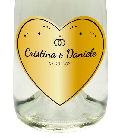 PERSONALIZED NON-ALCOHOLIC SPARKLING WINE - Gift idea for wedding or engagement anniversary