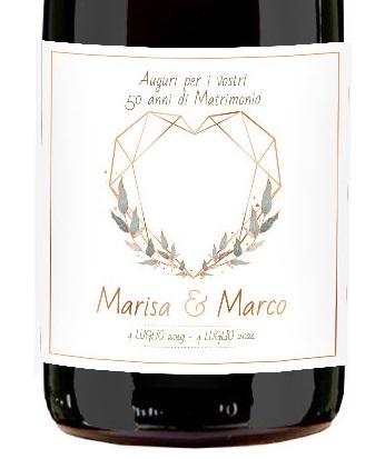 Prosecco Magnum Personalizzato - Idea regalo per Anniversario di matrimonio o anniversario di fidanzamento