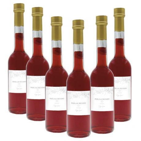 36X Bomboniere liquore fico d'india - bottiglie mignon 0.10 lt. - Mini bottiglie di liquore artigianale idea per bomboniere di matrimonio o cerimonie