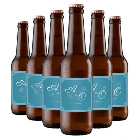 24X Craft Beer Amber Ale - Personalized Favors