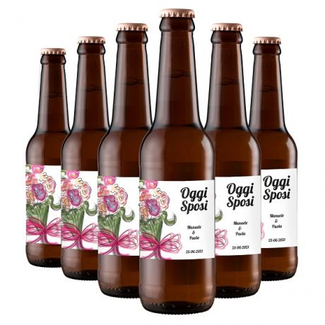 48X Pilsner Craft Beer - Personalized Favors