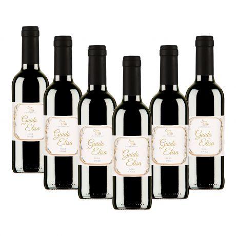 90 Bottiglie Vino Nobile DOCG personalizzato per matrimonio - bomboniere
