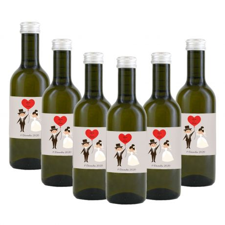 90 bottles of personalized IGT Chardonnay wine for wedding