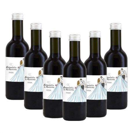 90 bottles of red wine IGT personalized for wedding