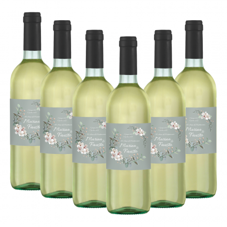 120 Bottles Toscana IGT personalized for wedding