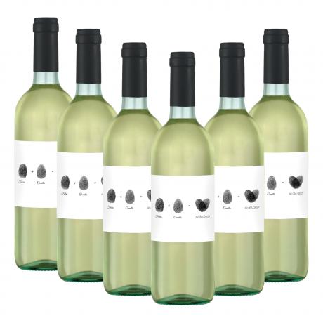 60 Bottles Toscana Bianco IGT personalized for wedding