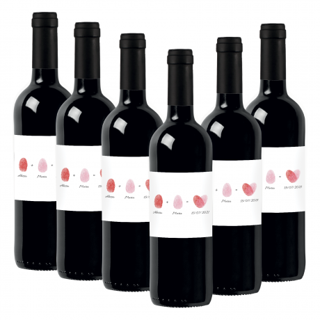 60 Bottles Toscana Rosso IGT personalized for wedding