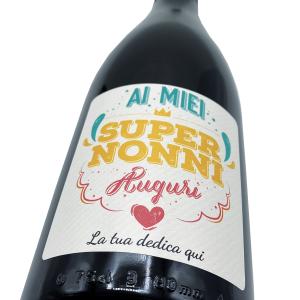 Bottiglia di Prosecco personalizzato - idea regalo per la festa dei nonni