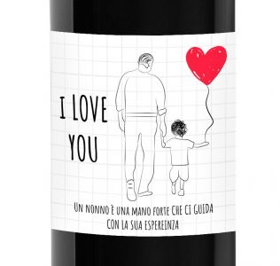 Personalized wine bottle - gift idea for grandparents' day