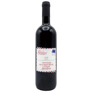 Bottiglia personalizzata - Rosso di Montalcino - Vino da regalare a Natale per auguri originali